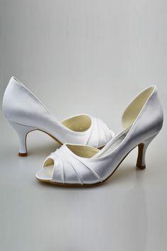 3ab85d1333c Simple Elegant Comfortable Peep Toe Handmade Wedding Shoes S72 Wedding  Shoes