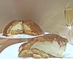 Zuccotto - Pezsgős piskóta  tejszínes - vaníliás krémmel