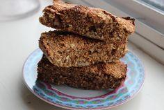 Baked Oat and pecan bars Paleo Recipes, Snack Recipes, Cooking Recipes, Snacks, Paleo Food, Pecan Bars, Oat Bars, Natural Born Feeder, Sugar Free Treats