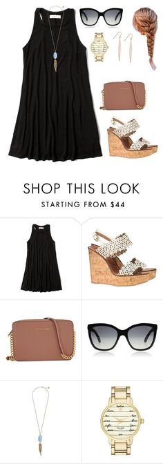 """This is bleh"" by preppy80 ❤ liked on Polyvore featuring Abercrombie & Fitch, Tory Burch, Michael Kors, Chanel, Kendra Scott, Kate Spade and Giani Bernini"