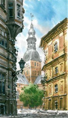 Картинки по запросу Рига картины маслом Riga, Drawings, Painting, Painting Art, Sketches, Paintings, Drawing, Painted Canvas, Portrait