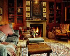 tartan plaids in Ward Denton home in Scotland... in a cabin in the mountains you'd need this room. ;)