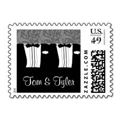 Gay Men Commitment or Wedding Postage Stamps
