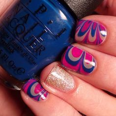 Trendy Water Marble Nails 2017