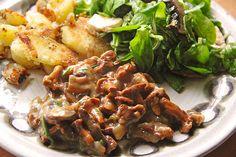 Chefkoch.de Rezept: Bratkartoffeln mit Pilzragout