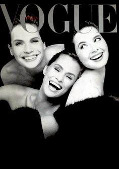 Veruschka, Isabella Rossellini & Lauren Hutton by Steven Meisel, 1988