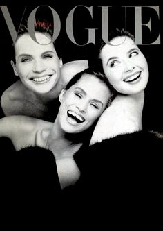 Veruschka, Isabella Rossellini & Lauren Hutton, photo by Steven Meisel, 1988*