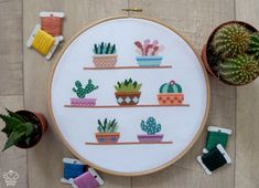 Cactus Cross Stitch Pattern PDF, Easy Cross Stitch, Succulents Counted Cross Stitch Chart, Modern Cacti Plants Embroidery, Gift for Mom Cross Stitching, Cross Stitch Embroidery, Embroidery Patterns, Hand Embroidery, Cactus Cross Stitch, Simple Cross Stitch, Modern Cross Stitch Patterns, Cross Stitch Designs, Easy Cross