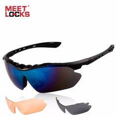 #ShipFromUsa #BestPrice #Fashion MEETLOCKS Sports Sunglasses With Anti-Fog Lens Bike Sunglasses With 3 Colors UV 400 Lenses for Outdoor…