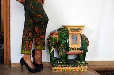 #fashion, print pants, details