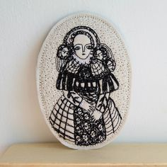 embroidery portrait   by cathy cullis