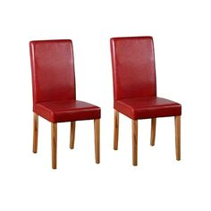 Staden Solid Wood Dining Chair (Set of Home & Haus Upholstery Colour: Rustic Red Solid Wood Dining Chairs, Leather Dining Chairs, Upholstered Dining Chairs, Dining Chair Set, Dining Room Chairs, Dcor Design, Chair Design, Design Ideas, Red Leather Chair