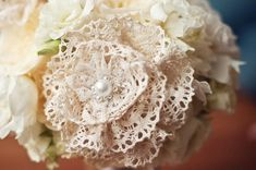 I had a dream about a lace flower bouquet, I think some antique store shopping is in my future...