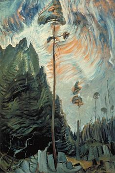 """""""Edge of the Forest,"""" Emily Carr, ca.1935, oil on paper, 34.13 x 23"""", McMichael Canadian Art Collection."""