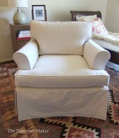 Slipcover Makeover For Outdated Ethan Allen Chair