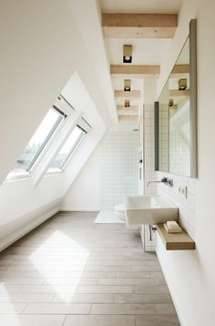 La salle de bain en blanche
