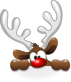 Reindeer head clip art - vector clip art online, royalty free and public domain Christmas Rock, Christmas Projects, Holiday Crafts, Christmas Holidays, Christmas Decorations, Christmas Ornaments, Funny Christmas, Rudolph Christmas, Christmas Clipart