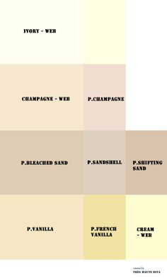 My OFF-WHITES Pantone (P.) and web (WEB) reference colors.  ♔THD♔