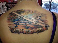 airplane tattoo cessna