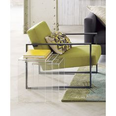 peekaboo clear nesting tables set of 3 in accent tables | CB2