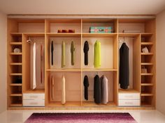 Here are closet storage ideas to help you gain more control over your closet space.Browse creative closets and decor inspirati Wardrobe Design Bedroom, Master Bedroom Closet, Bedroom Wardrobe, Wardrobe Closet, Bedroom Decor, Bedroom Cupboard Designs, Bedroom Cupboards, Home Room Design, Home Interior Design