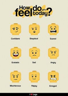 moods by LEGO face