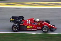 arnoux, (or b), 1983 Ferrari Scuderia, Ferrari F1, F1 Racing, Racing Team, Formula 1, Classic Race Cars, Gilles Villeneuve, American Racing, Vintage Racing