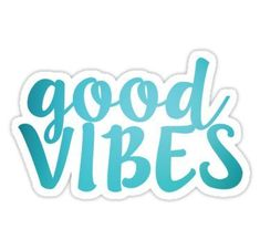 'Good Vibes teal' Sticker by – Phone case for girls Stickers Cool, Preppy Stickers, Red Bubble Stickers, Tumblr Stickers, Phone Stickers, Printable Stickers, Vsco, Aesthetic Stickers, Transparent Stickers