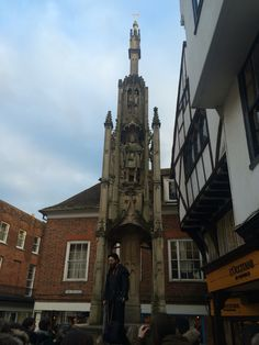 This is the Butter Cross. It has the statue of King Alfred and It was once used by countrymen to sell produce. I saw this monument every day going to the charity shop as it's in High Street and it's also the place where we met after work experience