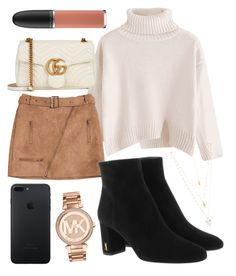 """Hello"" by jadenriley21 on Polyvore featuring Gucci, Yves Saint Laurent, MAC Cosmetics, Natalie B and Michael Kors"