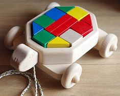 Extracción de madera de juguete, bloques de madera, juguete de madera bloques carro, tortuga madera juguete Z406