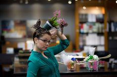 Meet our $100 dollar HairAPolooza winner.  Her creativity and fun floral design with butterflies won the judges over in a heartbeat.  Bet she had an extra fun weekend.  #hair #crazyhair #design #interior #hospitality