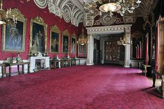 The State Rooms at Buckingham Palace, London.
