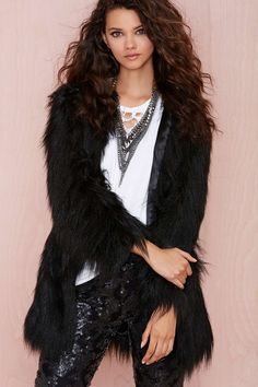 Unreal Fur Wanderlust Faux Fur Coat | Shop You, Me and the Moon at Nasty Gal $288