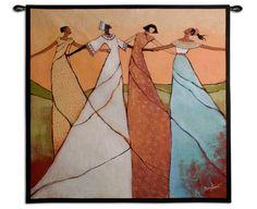 Unity Wall Tapestry by Monica Stewart Wall Art For Sale, Art Prints For Sale, Framed Art Prints, Framed Artwork, Pole Art, Large Art, African Art, Frames On Wall, Wall Tapestry