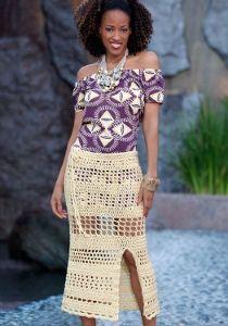Tropical Honeymoon Skirt  http://www.favecrafts.com/Crochet/Tropical-Honeymoon-Skirt/ml/1