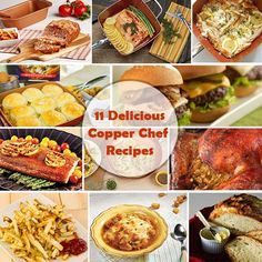 Chef Recipes, Fish Recipes, Copper Chef Square Pan, Copper Cooking Pan, Casserole Pan, No Knead Bread, Crisp Recipe, Hamburger Recipes, Cooking Instructions