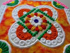 Very easy and simple rangoli design by DEEPIKA PANT - YouTube