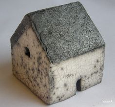 Rowena Brown's raku houses...