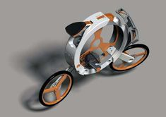 Disc-Stowed Two-Wheelers - The Donut Folding Bicycle Reduces to the Shape of its Tires (GALLERY)