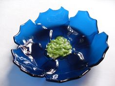 Fused Glass Bowl ( I would like this without the guacamole, please)