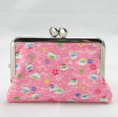 SALE Card Case - Japanese Owl on Pink