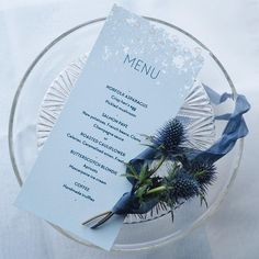 What's on your menu this evening? Menu from my Genevieve wedding suite screen-printed by hand onto beautifully thick Mohawk paper-stock.