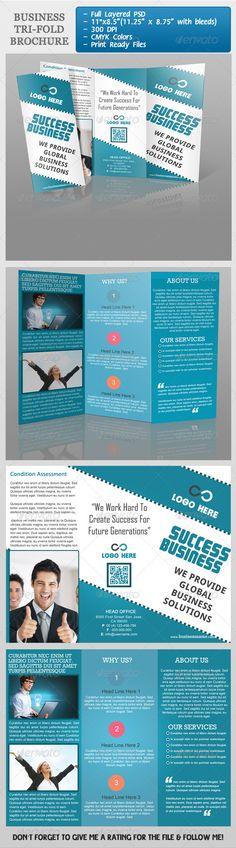 Business Tri-Fold Brochure  - GraphicRiver Item for Sale