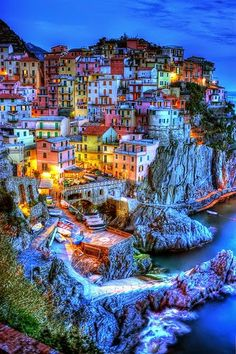 Manarola-Cinque Terre-Italy. It looks so unreal. It's beautiful!
