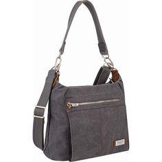 Travelon Anti-Theft Heritage Hobo Bag, Women's, Grey