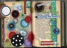I like this blog, this lady makes a bunch of beautiful designs from old books :) I like them a lot :)