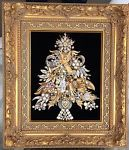 FRAMED VINTAGE RHINESTONE JEWELRY CHRISTMAS TREE ~ ANGEL VIOLIN BELL  | Jewelry & Watches, Vintage & Antique Jewelry, Costume | eBay!