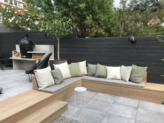 Outdoor Decor, Garden Seating, Outdoor Space, Outside Living, Garden Architecture, House Exterior, Patio Design, Modern Garden Landscaping, New Homes