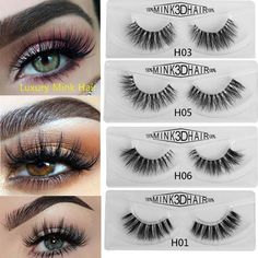 9397b7d28d1 1 Pair Luxurious Mink Eyelashes 3D Natural Cross False Eyelashes Mink Fake  Eye Lashes Handmade Eyelash